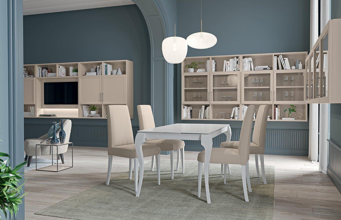 mobile-soggiorno-Electa-stile-classico-beige-canapa.