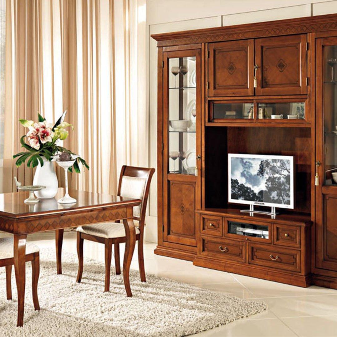 Soggiorno classico in legno Matisse